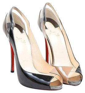 Christian Louboutin Taupe/Black Pumps