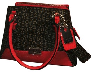 Guess Satchel in Black And Red