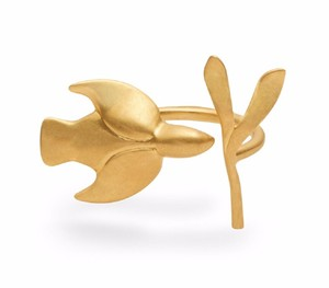 Tory Burch New Tory Burch Dove Ring 16k Gold Plated Ring One Size Fits All