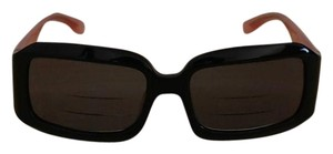 Miu Miu MIU MIU Black & Pink Rectangular Sunglasses Model SMU07D