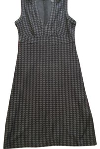 Banana Republic Holidays Office Navy Houndstooth Print Dress