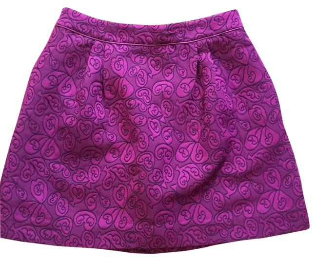 Item - Purple Embroidered Bubble Skirt Size 6 (S, 28)