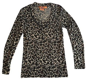 Tory Burch Leopard Animal Cheetah Tory Sweater