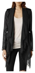AllSaints All Leather Scarf Motorcycle Jacket