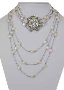 sogoli SOGOLI FASHION JEWELRY DESIGNER RHINESTONE AND FAUX PEARL NECKLACE DF
