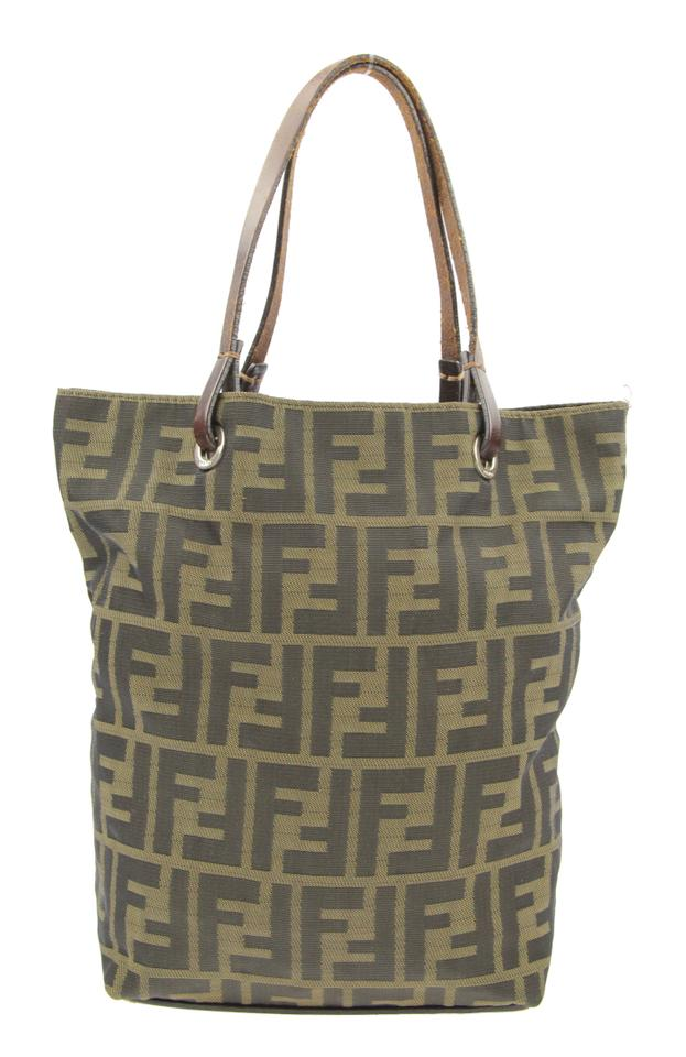 ddc381d7118e Fendi Zucca Brown Canvas Tote - Tradesy
