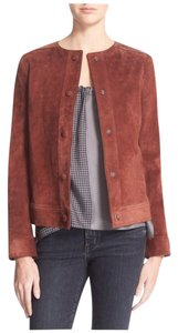 Helmut Lang Rust Leather Jacket