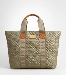 Tory Burch Tote in Olive/Luggage