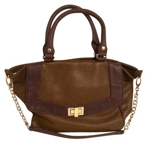 Olivia + Joy Satchel in Brown & Purple