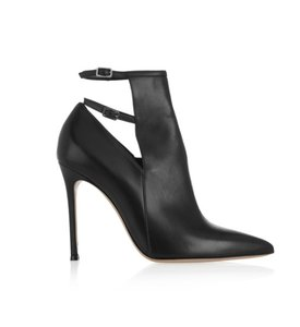 Gianvito Rossi Leather Zipper Cut-out Black Boots