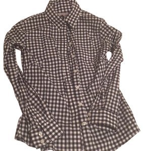 Banana Republic Button Down Shirt Black and white