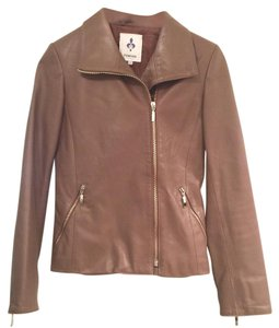 Firenze Taupe Leather Jacket