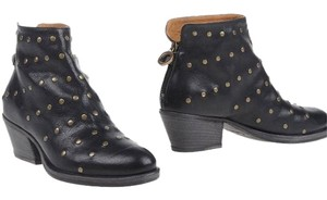 Fiorentini + Baker Made In Italy Black studded Boots