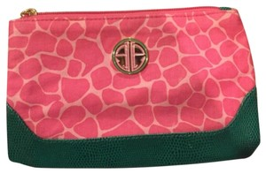 Lilly Pulitzer Green & Pink Clutch