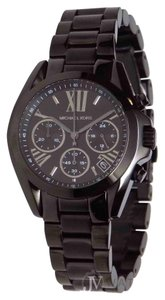 Michael Kors NEW WOMENS MICHAEL KORS (MK6058) MINI BRADSHAW CHORONO BLACK IP WATCH