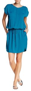 Vince short dress teal on Tradesy