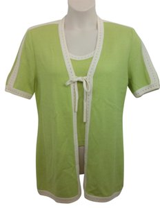 St. John Lime Knit Top