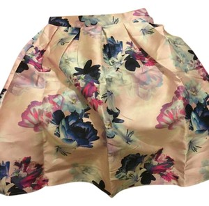 Other Skirt Pink and blue floral
