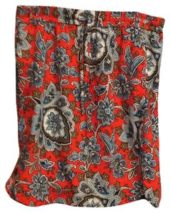Ann Taylor LOFT Skirt Bright orange, multi floral