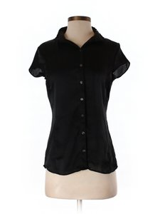 Banana Republic Short Sleeve Work School Interview Casual Top black
