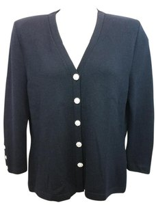 St. John Evening Basics Black Knit Blazer