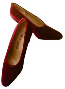 Saint Laurent Yves Crimson Pumps