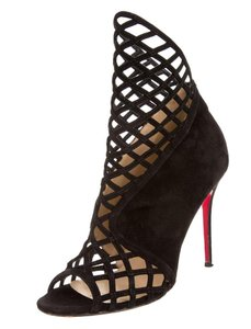 Christian Louboutin Cage Cut Out Open Toe black Boots