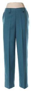 SOUTHERN LADY Work School Casual Polyester Straight Pants Teal