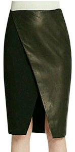 Alice + Olivia And Leather Skirt Black