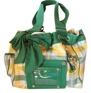 Juicy Couture Tote in Green/Yellow/White