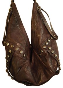 Kenneth Cole Hobo Rivet Moto Shoulder Bag