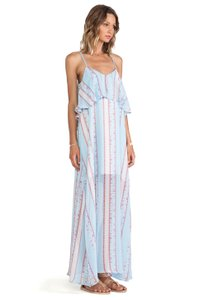 Blue Maxi Dress by Lucca Couture Maxi Tank Overlay Festival
