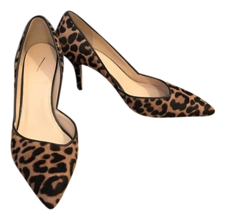 3c55a022a117 J.Crew Walnut Brown Colette D orsay In Leopard Calf Pumps Size US 6 ...