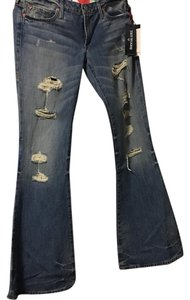 True Religion Trouser/Wide Leg Jeans-Light Wash