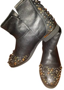 Modern Vice Studded Leather Black Boots