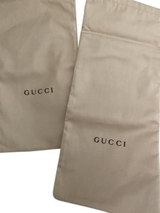 Gucci Slides Shoes (2) Dustbag. Brand new. UNUSED