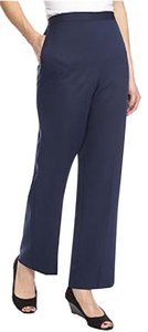 Alfred Dunner Polyester Casual Work School New With Tags. Straight Pants Navy