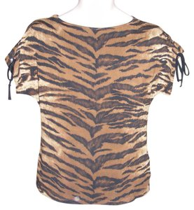 Lauren Ralph Lauren Career Tiger Animal Print Drawstring Lrl T Shirt Browns