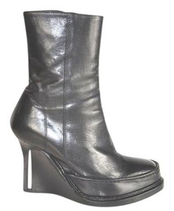 Ann Demeulemeester Wedge Ankle Black Boots