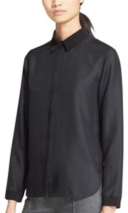 Rag & Bone Button Down Silk Button Down Shirt Black