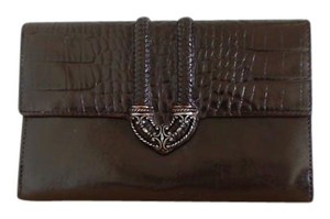 Brighton Vintage Wallet in Brown Leather with Croc-Embossing