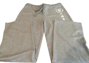 Caesars Athletic Pants Silver glitter