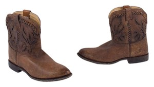 Frye Overlay Short Antiqued Brown Boots