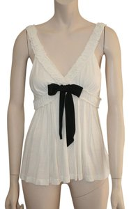 Other Grosgrain Ribbon Bow Top WHITE & BLACK