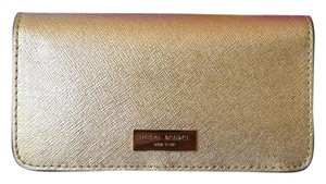 Henri Bendel HENRI BENDEL Gold Saffiano Leather I Phone 5 Case Wallet