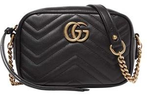 Gucci New Gg Quilted Mini Marmont Cross Body Bag