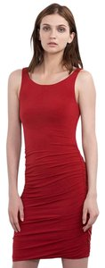 Velvet by Graham & Spencer & Satina Shirred Red Dress
