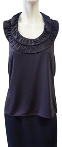 Dior Christian Blue Silk Halter Top Navy