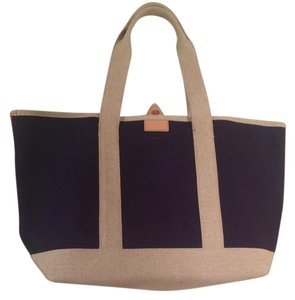 J.Crew Canvas Beach Tote in Navy
