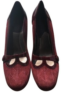 Franco Sarto Maroon Wine Pumps